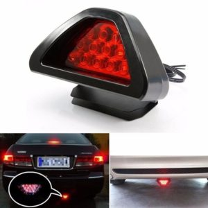 F1 Style 12 LED Triangle Rear Stop Tail Light LED Brake SPORTY Red Light 12V DC