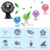 Mini USB Clip and Desk Personal Fan 2 Speed Mode Flexible 360° Ventilator Bed Office Portable Rotating Mute for Baby Stroller Car Laptop Table Home Electric Folding Air Blower.