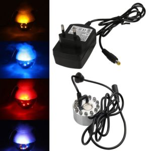 Mist Maker/ Fog Maker 12 LED Lights Pond Fountain Humidifier Decor With 24 Volt DC Adapter