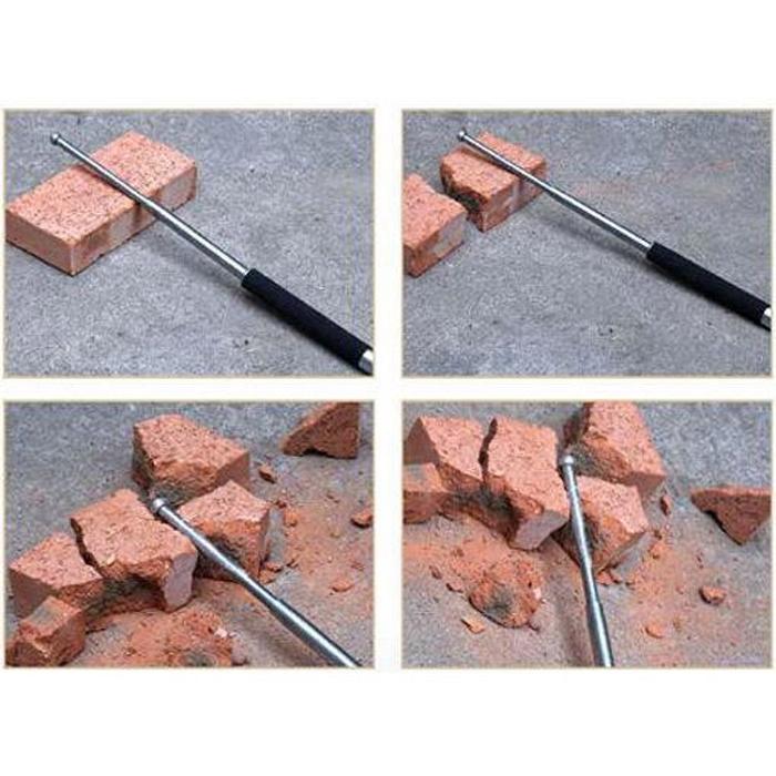 26 inch Self-defense Three Sections Telescopic Tool Portable Retractable Sticks