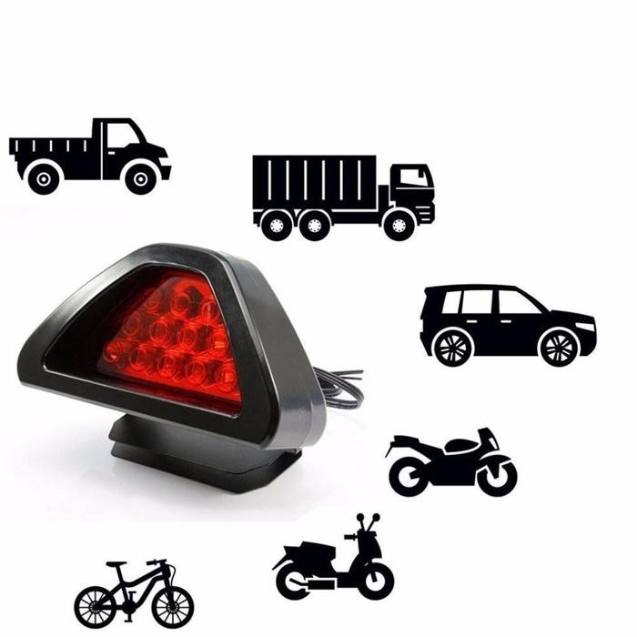 F1 Style 12 LED Triangle Rear Stop Tail Light LED Brake SPORTY Red Light 12V DC