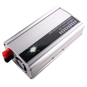 1000 Watt Car Auto Converter/ Inverter 12V DC to 220V AC + USB 5V For For Home, Car, School Bus DVR Camera, Solar Panel, Color TV, Mobile Charger, CFL
