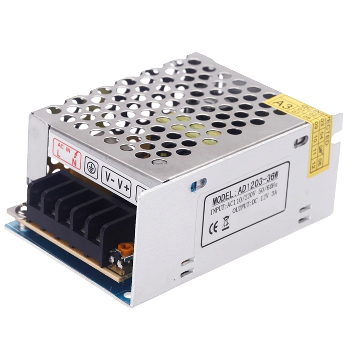 12 Volt 3 Amp, 36W SMPS/ 12V 3A Power Supply, SMPS, Driver, Switch Power Supply Driver