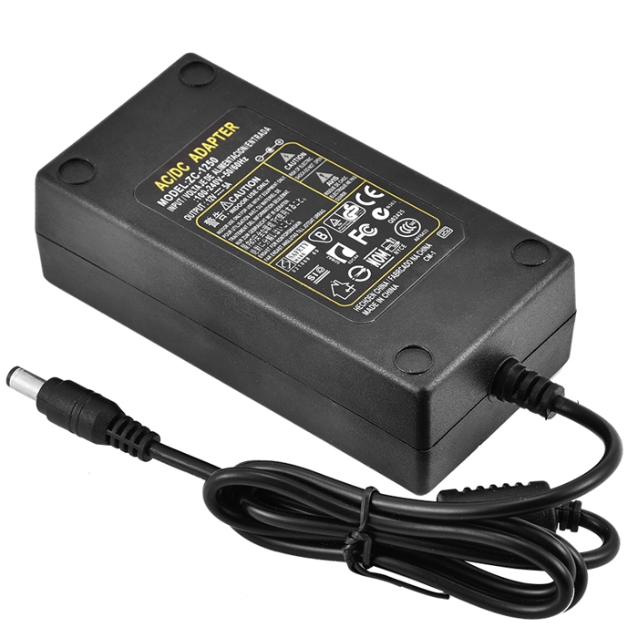12V 5A Power Adapter, Power Supply AC Input 100-240V DC Output 12 Volt 5 Amp 60 Watt SMPS, Adapter, Charge, PC LCD Monitor Supply