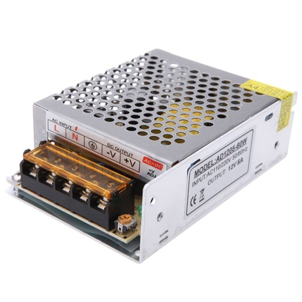 12 Volt 5 Amp, 60W SMPS 12V 5A Power Supply, SMPS, Driver, Switch Power Supply Driver