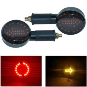 18 LED Arrow Indicator With 18 LED DRL Ring, Red And Yellow For Royal Enfield Bullet Classic 350, 500, Chrome, Desert Storm, Standard 350, 500, Electra EFI, Twins, Twinspark