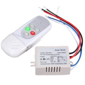 2 Ways Remote Switch PVC, Wireless Remote Control Switch For Light, Digital Remote Control
