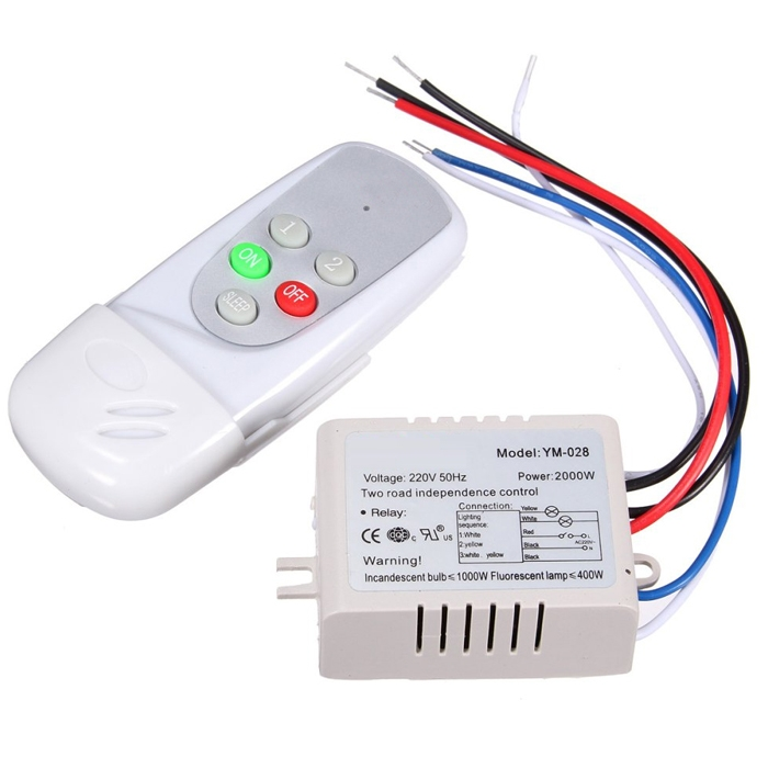 2 Ways Remote Switch PVC, Wireless Remote Control Switch For Light, Digital Remote Control