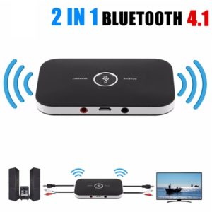 2 In 1 Rechargeable HIFI Wireless Bluetooth Audio Transmitter + Receiver 3.5 Mm RCA Music Adapter, Dongle With 3.5 Mm Jack And Aux Cable For Car & Home Speaker