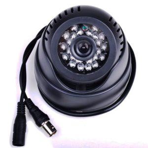 24 IR Indoor Outdoor Independent CCTV Camera/ CCTV Dome Camera With Card Slot Live TV DVR Output
