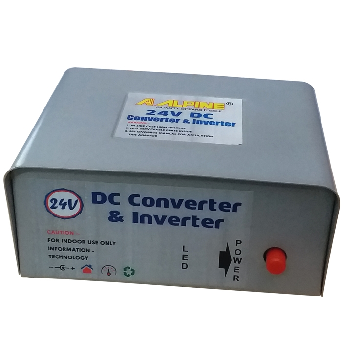 24V DC To 220V AC 100 Watt Converter/ Inverter For Home, Car, School Bus DVR Camera, Solar Panel, Color TV, Mobile Charger, CFL