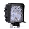 9 CREE LED 27 W Square LED OFF Road/Flood Light, DRL Fog Lamp For All Cars & Bikes, Royal Enfield, SUV, Truck, Boat