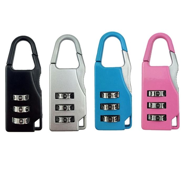 3 digit re settable code password number lock combination bag