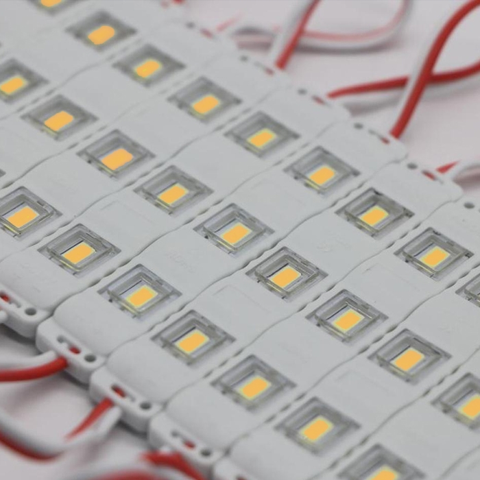 Warm White 3 LED Module, DC 12V Waterproof Module Lens High Glow Light Strip 5630/ 5730 LED, Injection LED Module, SMD Module Decorative Light Lamp With Pasting Tape