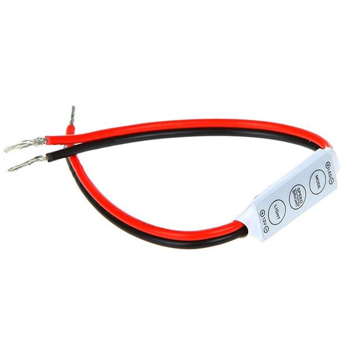 12V Mini LED Controller Dimmer 3 Keys 5 Modes For Single Color LED Strip SMD 3528/ 5050/ 5630/ 5730, Waterproof/ Non-Waterproof