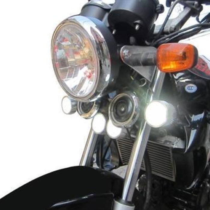 Super Bright 6 LED 18W Light/Driving FOG Spot DRL Lamp For Bikes & Cars, 1 Pair