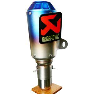 Universal AKRAPOVIC Sticker Blue Head Steel Exhaust Silencer for All Bikes KTM DUKE