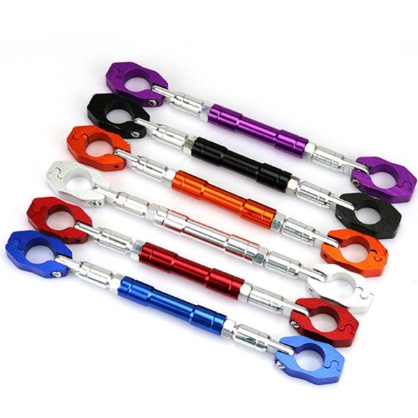 "Adjustable Aluminum Alloy Motorcycle Handlebar Brace and Clamp Bar Set 7/8"" 22 mm"