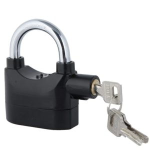Anti Theft Alarm Lock Motion Sensor Lock Security Waterproof Padlock, Bike, Bicycle, Home, Shop, Office & Factory