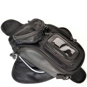 Bike Motorcycle Bike Magnetic Oil Tank Bag Storage Organizer Phone Holder Pocket Pouch, Also Can be Use As Shoulder Sling Bag/ Carry Bag