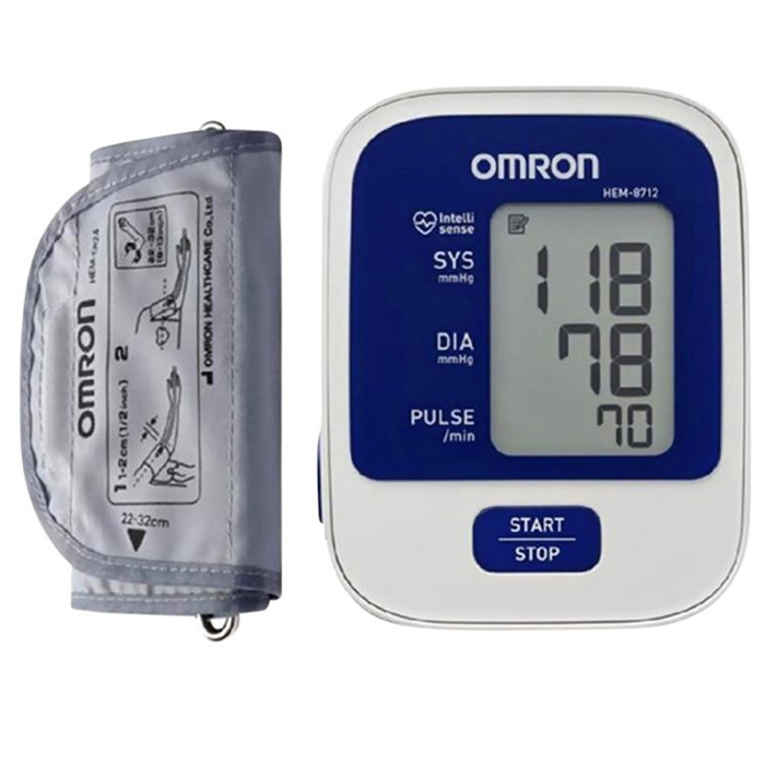 Omron Accurate New Series Digital Blood Pressure Monitor HEM-8712 For For Upper Arm