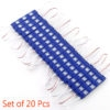 Blue 3 LED Module, DC 12V Waterproof Module Lens High Glow Light Strip 5630/ 5730 LED, Injection LED Module, SMD Module Decorative Light Lamp With Pasting Tape