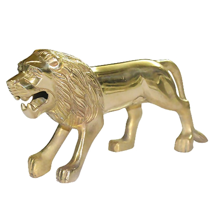 Pure Brass Lion Bike Front Mudguard Decorative For Royal Enfield Classic 350/500 Bullet & All Motorcycle Bikes