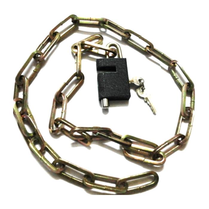 Heavy Duty Multi Utility Cable Chain Lock Bike Cycle Helmet Luggage Window Locker, 100 Cm