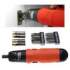 Black&Decker A7073 Cordless Battery Powered Screwdriver 6V With Batteries & 14 Pcs Accessory Bits