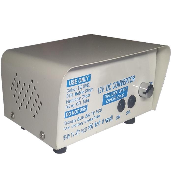 12V DC to 220V AC 200 Watt Converter/ Inverter for Home, Car, Solar Panel,  Color TV, Mobile Charger, CFL (6 Months Warranty)