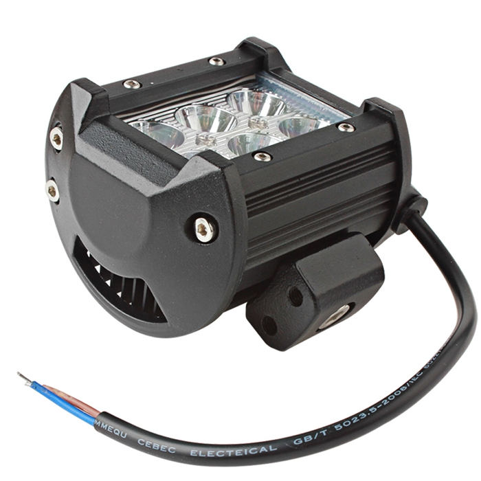 6 CREE LED 18W 4 Inch Off Road, Spot Light, Fog Light Bar, Driving Auxiliary Lamp For Car/Bike, SUV, Truck, Boat Work Lights, Super Bright White