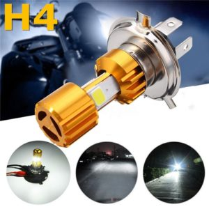 H4 LED 3 COB Motorcycle Bike Hi/Low Headlight White Lamp Bulb DC 9~30V 1000LM 9~18W