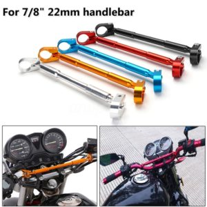 "Universal 7/8"" 22 mm Motorcycle Bike Aluminum Handlebar Brace Clamp Set, Motorcycle Cafe Brace Aluminum Handlebar Rod"