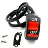 Universal ON/OFF Switch, Motorcycle Bike Scooter Handlebar ON/OFF Switch, 12 Vol DC Switch Button Black