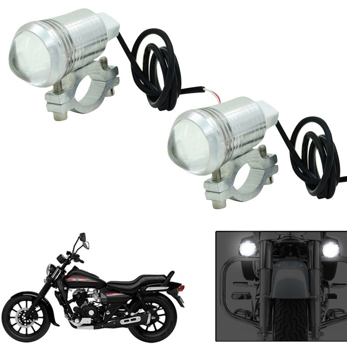 "U1 CREE LED 3 Mode Light (3"" Length) Motorcycle Bike Light Headlight Driving Fog Spot Lamp for Royal Enfield & All Bikes"