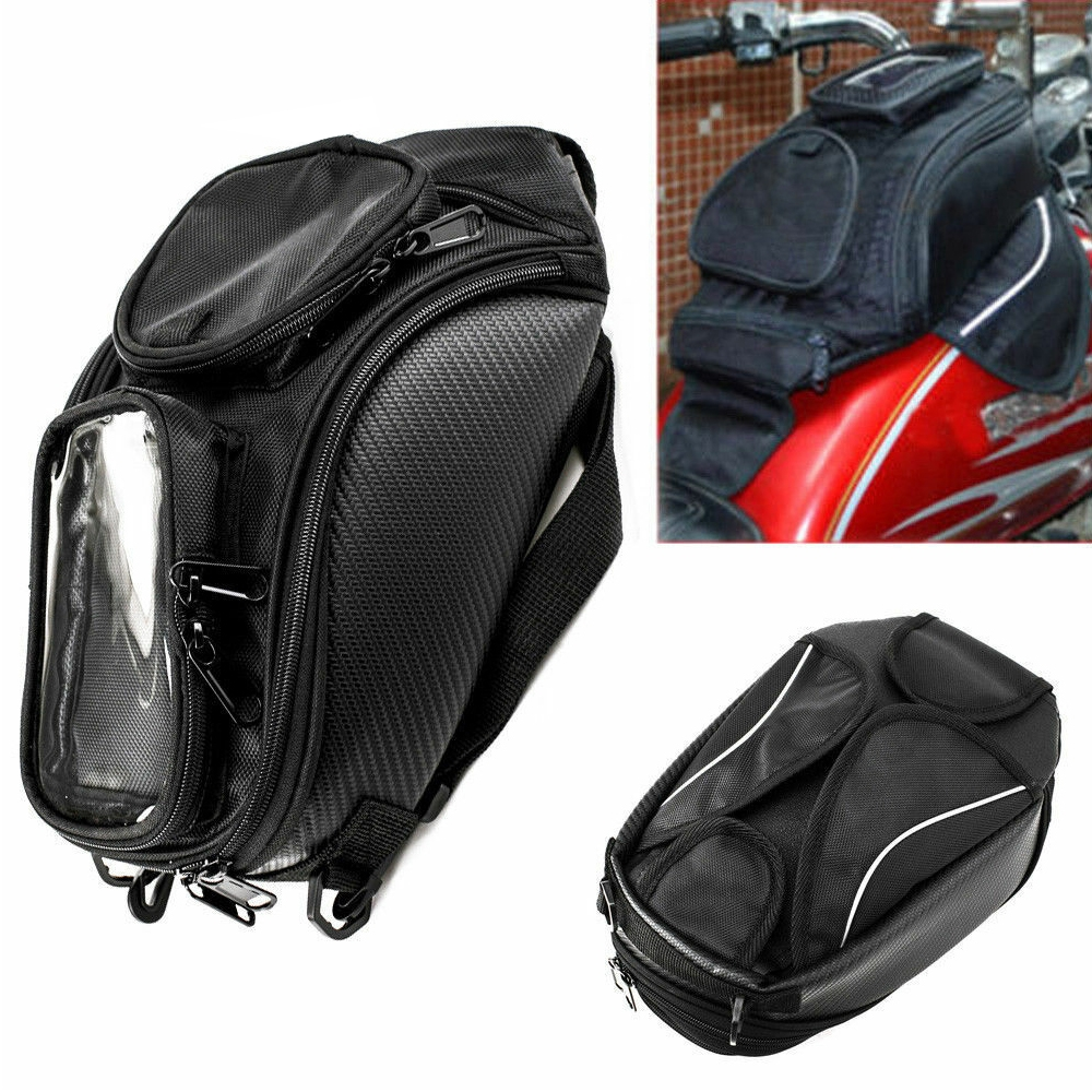 Motorcycle Bike Magnetic Fuel Oil Tank Bag Storage Organizer Phone Holder Pocket Pouch, Also Can be Use As Shoulder Sling Bag/ Carry Bag
