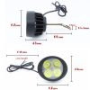 12V-85V DC LED Motorcycle Headlight Electric Bicycle White Light, Mirror Mount Driving Fog Spot Headlamp Side Mirror Bulb, 1 Pair