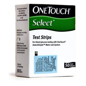 OneTouch Select Simple 50 Test Strips, Diabetes, Blood Glucose Test Strips - Jhonson & Jhonson