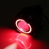 U7 LED Motorcycle Headlight Fog Spot Light Lamp (White Angle Eyes + Red Devil Eye) 3000LM