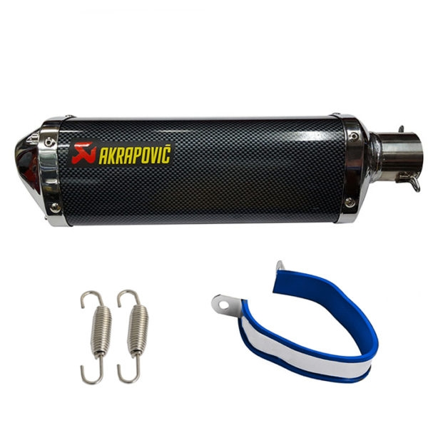 Universal AKRAPOVIC Sticker Triangle Carbon Racing Exhaust Silencer For All Bikes KTM DUKE