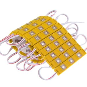 Yellow/ Amber 3 LED Module, DC 12V Waterproof Module Lens High Glow Light Strip 5630/ 5730 LED, Injection LED Module, SMD Module Decorative Light Lamp With Pasting Tape