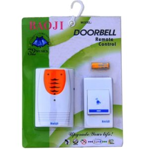 New Baoji Wireless Cordless Calling Remote Door Bell For Home, Office, Shop, Hospital & School, 32 Melody Music