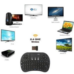 Rechargeable 2.4G Mini Wireless Keyboard Touch-Pad Mouse Combo Remote For XBMC Android TV, PC TV Box, Smart TV, Computer & Laptop