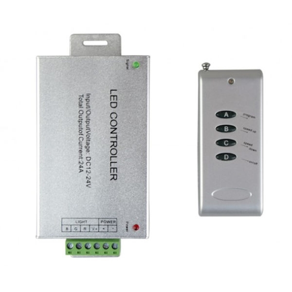 Wireless RF Radio Frequency 4-Keys Remote Controller For RGB LED Strip Light 24 A