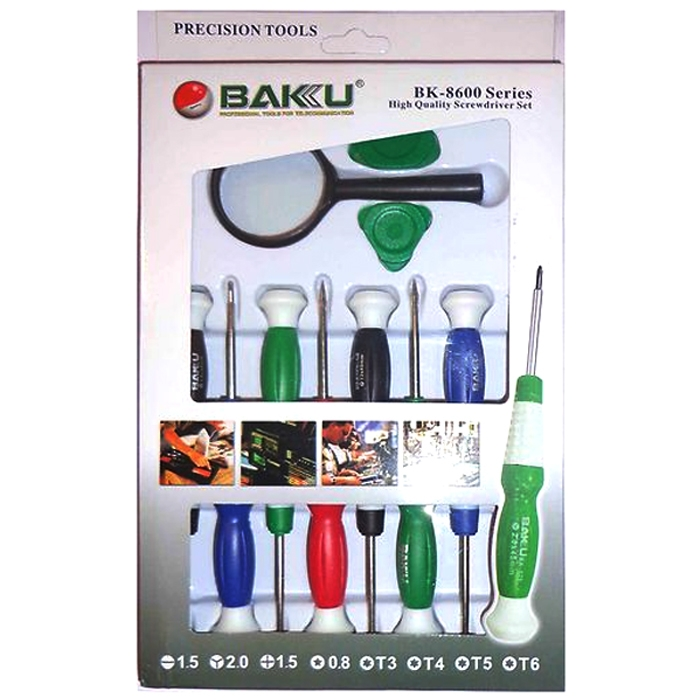 Baku 11 Pieces PC Tool Kit / Screw Driver Set For Mobile, Tablet & Laptop Repairing Made In Best