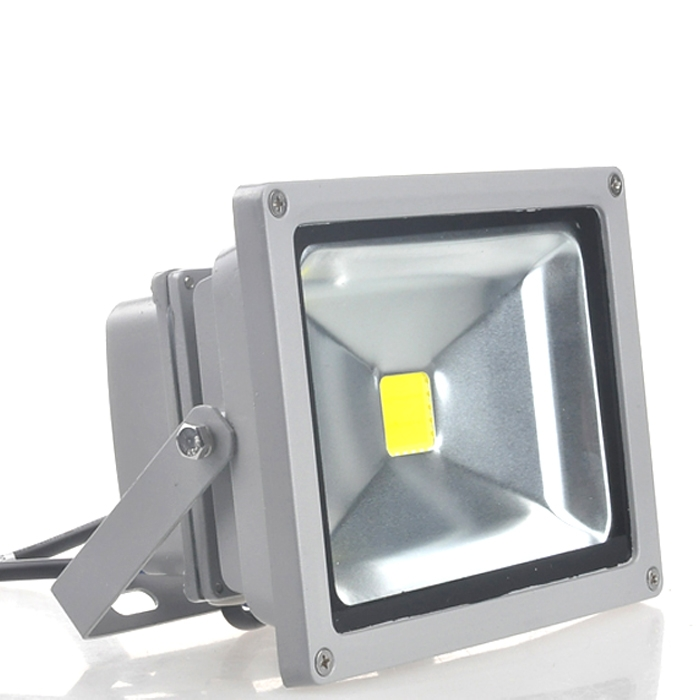 Waterproof Pure White 20W LED Flood Light AC 110-264V Spotlight For Indoor & Outdoor Use