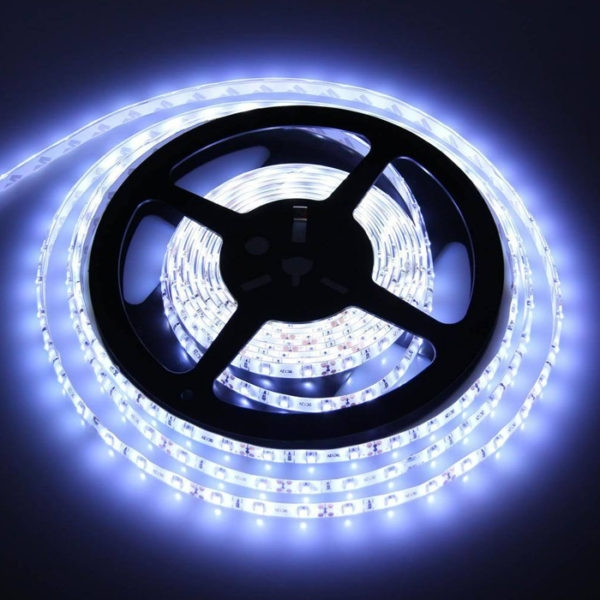 Cool White 5 Meter SMD 3528 LED Flexible Strip Tape 300 LED Light For Home Decor, Automobile, Indoor & Outdoor Lighting Rope + Free 12 Volt DC LED Driver
