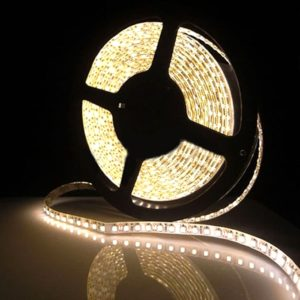 Warm White 5 Meter SMD 3528 LED Flexible Strip Tape 300 LED Light For Home Decor, Automobile, Indoor & Outdoor Lighting Rope + Free 12 Volt DC LED Driver