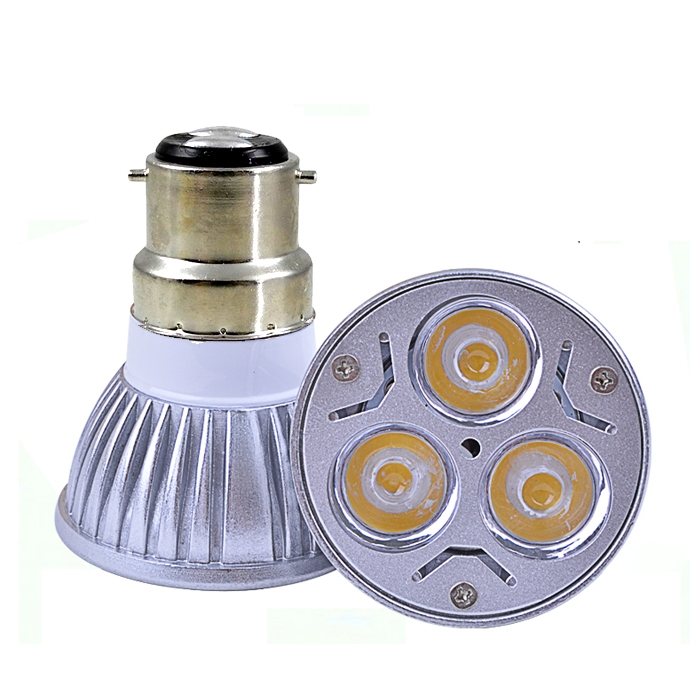3 Watt LED Spotlight Bulb, 220V AC, B22 Lamp Bulb, 3W LED Bulb For Home & Commercial Use