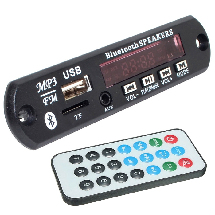 Bluetooth MP3 Decoder Module With Dancing Display, FM, USB, AUX, SD Card, MP3 Decoder Module With Fully Remote Control - VTF-108 BT